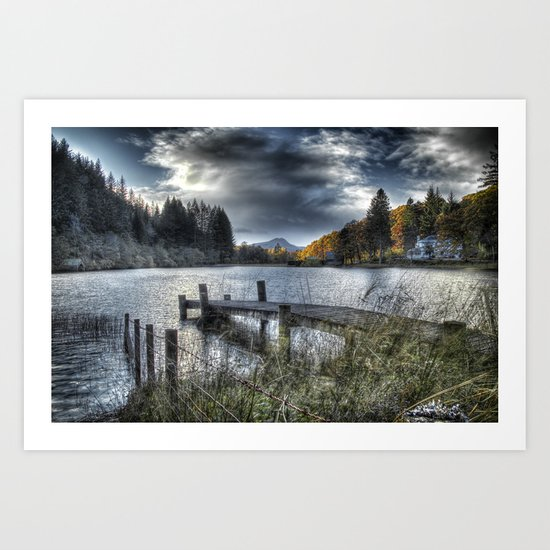 Blue Loch Ard Art Print