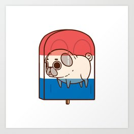 Puglie Popsicle Art Print