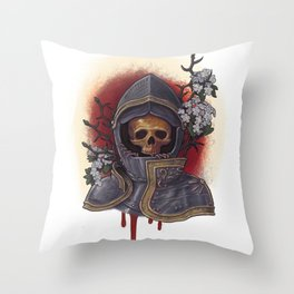 Chivalry in Thorns Throw Pillow