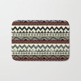 African No1 Brown Pattern Bath Mat