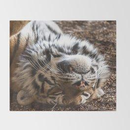 Tiger Portrait Throw Blanket