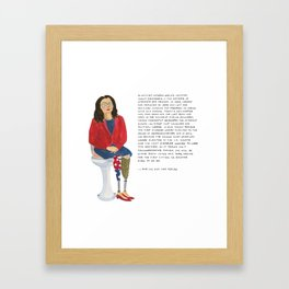 Senator Tammy Duckworth Framed Art Print