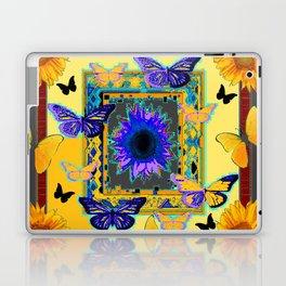 FANTASY ART PURPLE & YELLOW BUTTERFLIES SUNFLOWER Laptop & iPad Skin