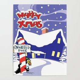 Christmas in North Pole Poster