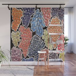 Grapes for wine lovers, gastronomy and restaurants Wall Mural