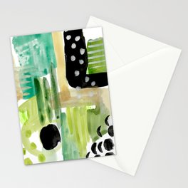 Garden Fern Abstract Stationery Cards