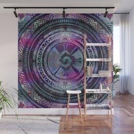 Hunab Ku Mayan Purple and Blues Wall Mural