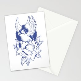 Swallow n Peony Stationery Cards