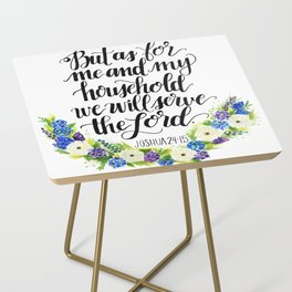 Serve the Lord - Joshua 24:15 Side Table