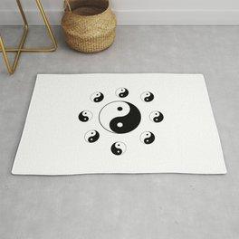 Yin and Yang 11 - Tao,Zen,Taoism,Dao,Harmony,religion,buddhism,buddhist,taijitu,taiji,taoist,china Rug