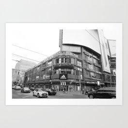 Black and white Toronto city photography Art Print