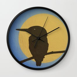 The Kingfisher Wall Clock