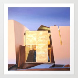 Modern Architecture. oil painting Art Print
