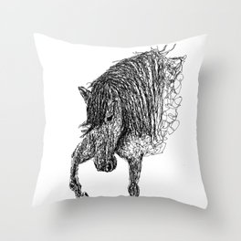 Unbridled Lines Throw Pillow