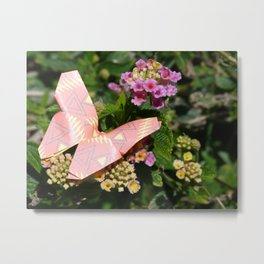 paper butterfly Metal Print