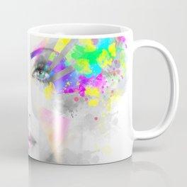Multicolored abstractn Woman Beautiful portrait illustration Coffee Mug