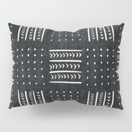 Mud cloth in black and white Pillow Sham