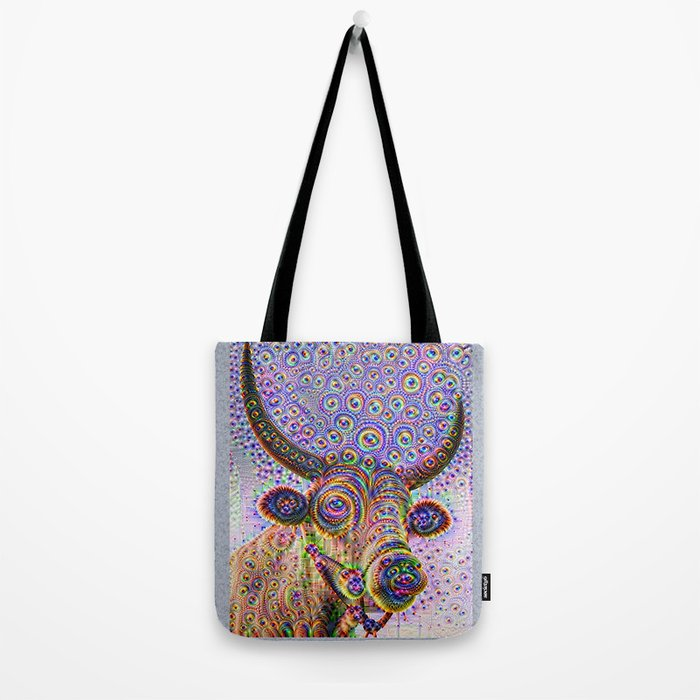 Jeweled Bull Tote Bag