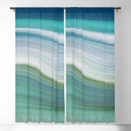 OCEAN ABSTRACT Blackout Curtain