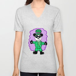 Irish Panda Character Unisex V-Neck