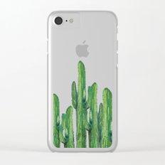 cactus 4 Clear iPhone Case