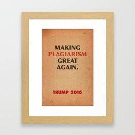 Trump Makings. Framed Art Print