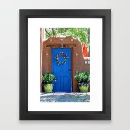 Santa Fe Door  Framed Art Print