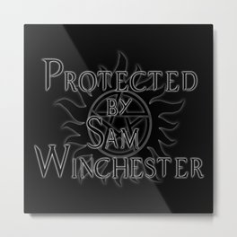 Protected by Sam Winchester Metal Print