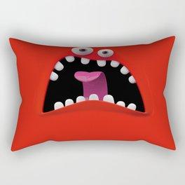 Red Monster Rectangular Pillow