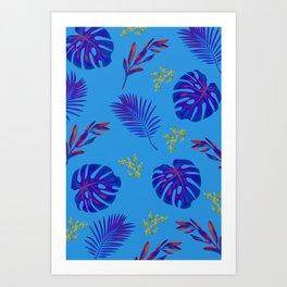 Beautiful Blue Floral Design Print Art Print