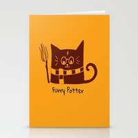potter Stationery Cards featuring Furry Potter  by MerryLittleDoodle