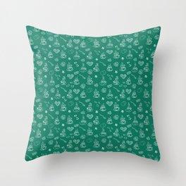 Tea time lush meadow Throw Pillow