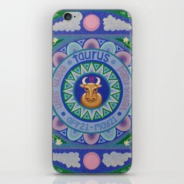 Taurus Mandala iPhone Skin