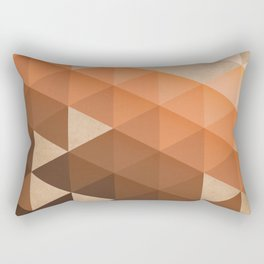 Warm Brown  -  Geometric Triangle Pattern Rectangular Pillow