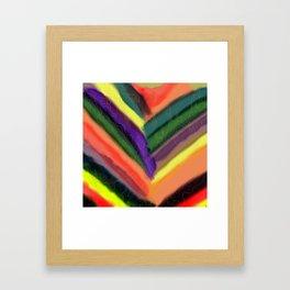 Golden Lines Framed Art Print