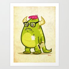 Monster Nerd Art Print