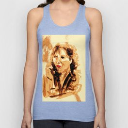 French Woman Unisex Tank Top