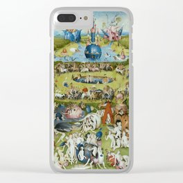 The Garden of Earthly Delights by Hieronymus Bosch (1490-1510) Clear iPhone Case