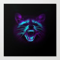 raccoon Canvas Prints featuring Raccoon by Asya Solo