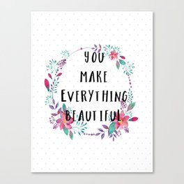 Beautiful You Canvas Print