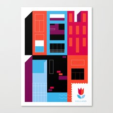 Postcards from Amsterdam / Borneo Canvas Print