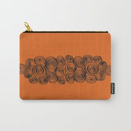 Tangerine Swirl Carry-All Pouch