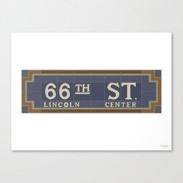 66 Street - Lincoln Center Canvas Print