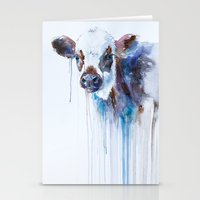 cow Stationery Cards featuring Cow by Slaveika Aladjova