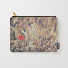 Wild Poppy in the Wheat Field Carry-All Pouch