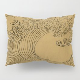 Golden Wave Pillow Sham