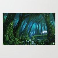 mononoke Area & Throw Rugs featuring Mononoke by Roberto Nieto