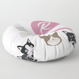 Cats & Makeup Floor Pillow