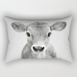 Calf - Black & White Rectangular Pillow