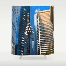 Downtown Philladelphia. JFK Plaza Shower Curtain
